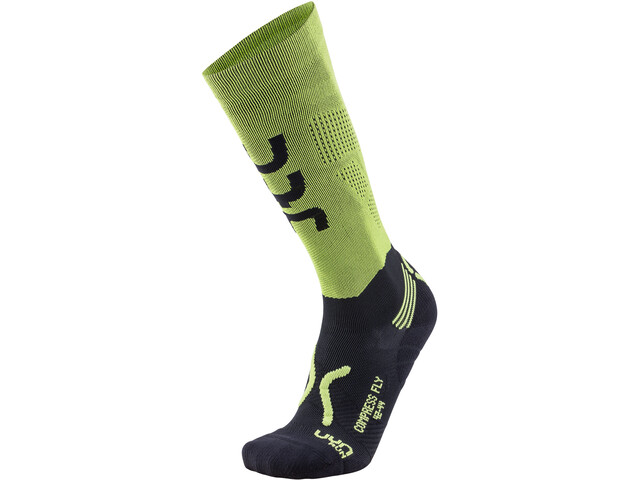 UYN Run Compression Fly Chaussettes Homme, acid green/black